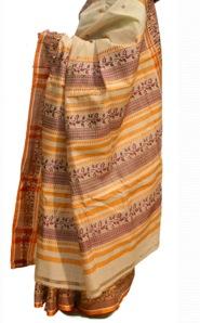 bengal handloom tassar sari