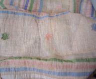 Cotton handloom stole - detail