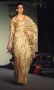 Bengal handloom saree on the ramp