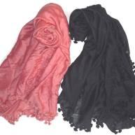 Pompom silk-wool