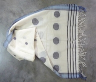 Silk - wool Jamdani stole