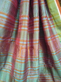 Murshidabad silk saree - pallu
