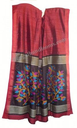 vivid jamdani work on pallu complements this new school matka - tassar handloom saree
