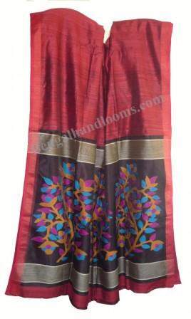 vivid jamdani work on pallu complements this new school matka - tassar handloom saree